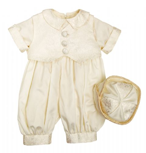 Regal Dupion Romper Ivory~ Boys Suits